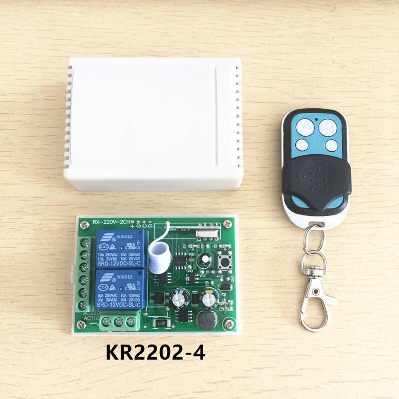 433 Mhz Universelle Drahtlose Fernbedienung Wechseln AC 85 V ~ 250 V 110 V 220 V 2-kanal-relais Empfangsmodul und RF 433 Mhz Fernbedienungen