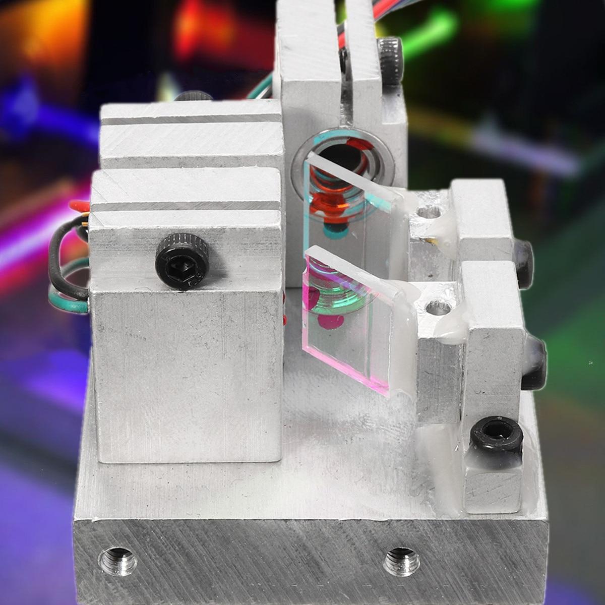 RGB 300mW 638nm+520nm+450nm White Laser Module With TTL Driver Board Modulation Temperature Protection Precision Science
