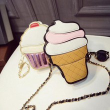 Cute Ice Cream Bags 2017 New Mini Crossbody Messenger Bags Small Cake Clutch Bag Coin Purse