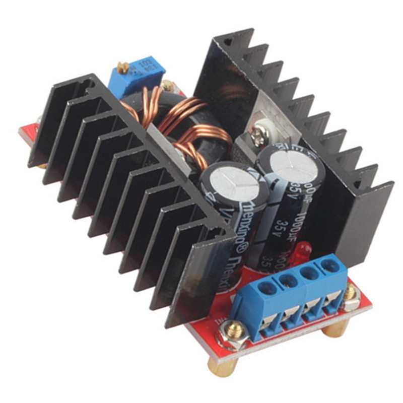 DC-DC Boost Converter DC DC Step Up Converter Module Adjustable Static Power Voltage Regulator 10-32V to 12-35V Step Up 150W 6A