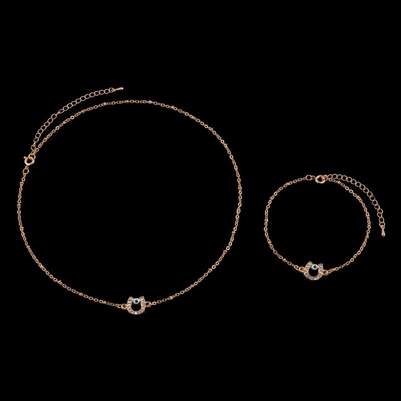 Halskette hufeisen gold