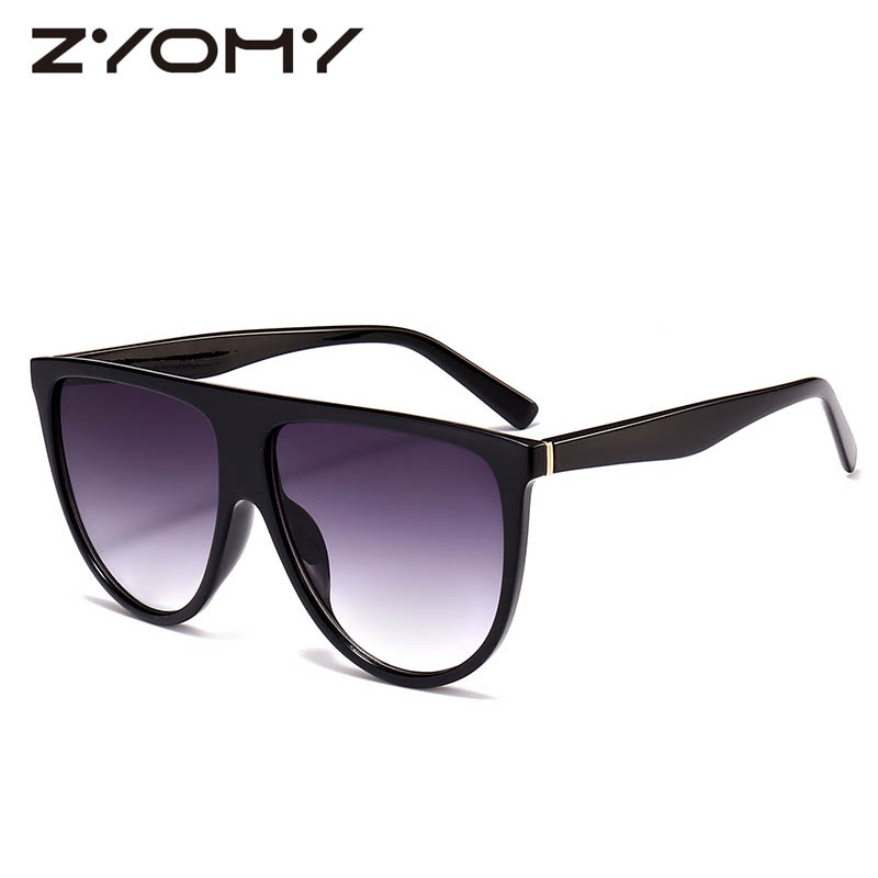Women Sunglasses Retro Eyewear Men Shades Oversized Big Box Brand Designer Vintage Gradient Color Lenses Classic