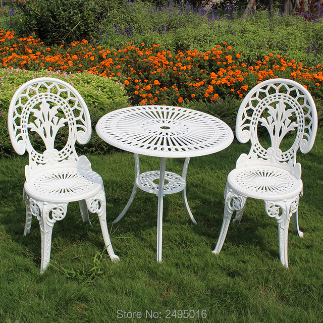 Cast Aluminum Garden Set Table And 2 Chairs Hot Sales In Garden Sets