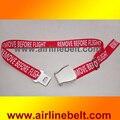 УДАЛИТЬ, ПРЕЖДЕ ЧЕМ ПОЛЕТ Самолет Самолет пряжки ремней безопасности типов пояс способа для человека и леди красный и черный доступны