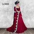 Kaftan marroquino Veludo Vermelho Vestido de Noite 2017 Querida A Linha de Apliques Manga Comprida Dubai Árabe Prom Partido Vestido robe de soire