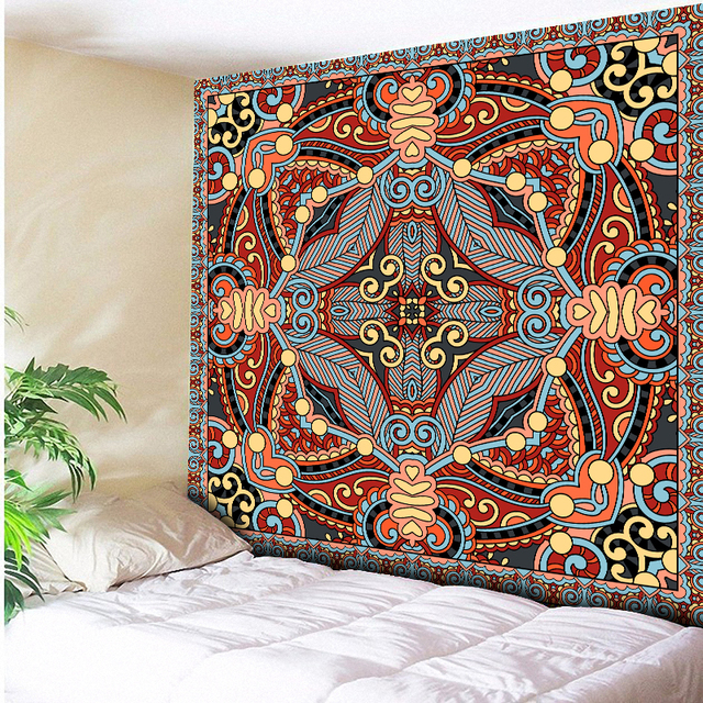 Vintage Tribes Seamless Geometric Indian Tapestry Wall Hanging Beach Throw  Towel Yoga Mat Blanket Table Cloth