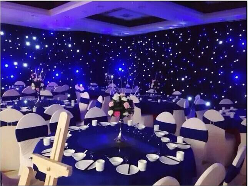 3x4m Indoor Led Effect Light Led Star Curtain Cloth For