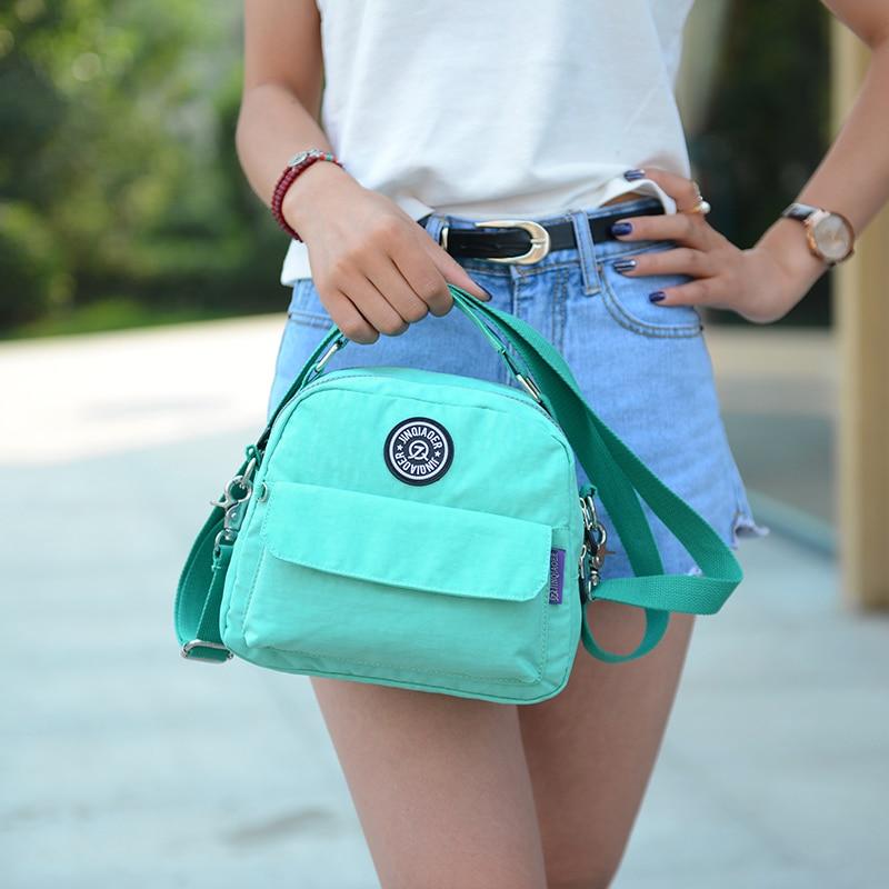 Women Messenger Bag Ladies Crossbody Bags Handbag Waterproof Nylon Zipper Pocket Solid Shoulder Bags Lady Tote