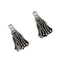 Wholesale Charms 10pcs Vintage Tibet Silver Alloy Tassel Charm Pendant Jewelry Findings Accessories 20X12mm S8095