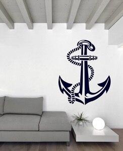 Image 1 - ימי עוגן ויניל קיר מדבקת ימי חובבי מקורה אמבטיה אמבטיה עיצוב הבית אמנות קיר מדבקות 1HH14