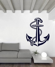 Ancla náutica vinilo Adhesivo de pared entusiastas náuticos interior baño Baño decoración del hogar adhesivo artístico de pared 1HH14