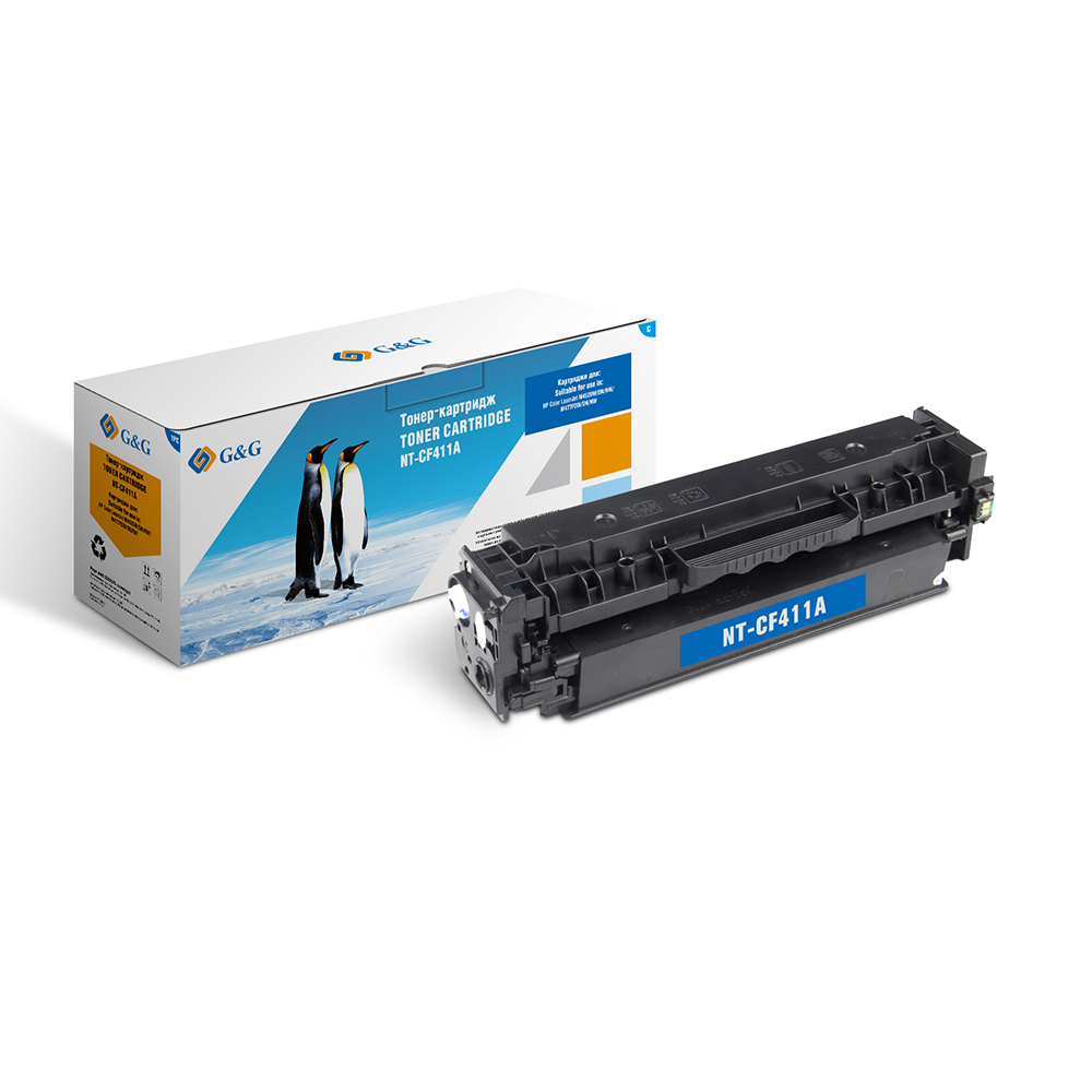 Computer Office Office Electronics Printer Supplies Ink Cartridges G&G NT-CF411A for HP LaserJet Color M452 dn/dw/nw M477 fdn new cyan toner compatible for hp laserjet pro cf411x m452 dn dw nw m470 tri color 5000 pages free shipping hot sale