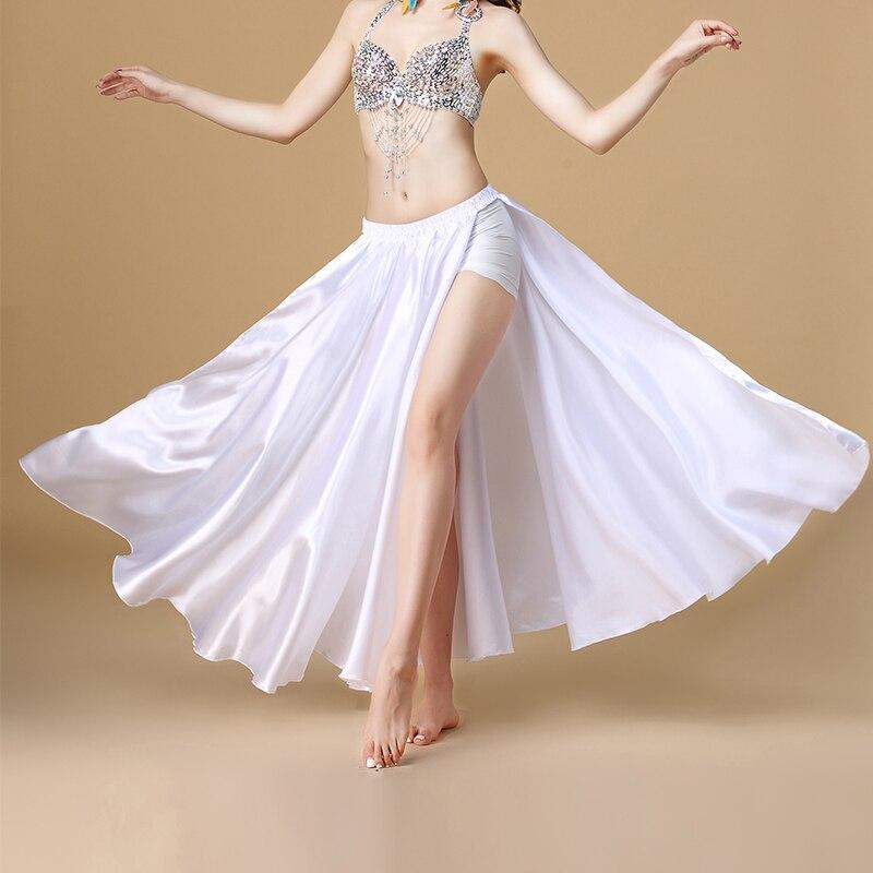 Image 4 - 2020 Performance Belly Dance Costume Saint Skirt 2 sides Slits Skirt Sexy Women Oriental Belly Dance Skirt Female Dance ClothesBelly Dancing   -