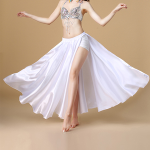 Image 4 - 2020 wydajność brzucha kostium taneczny Saint spódnica 2 boki rozcięcia spódnica Sexy kobiety orientalne spódnica do tańca brzucha kobiet ubrania do tańca