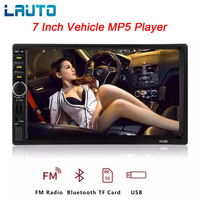 LAUTO Autoradio 2 Din Car Radio HD 7 Inch Car Mirrorlink Android Player Car Radio Touch Screen Bluetooth Mp5 Car Audio 7018B