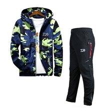 DAWA, высокое качество, комплекты одежды для рыбалки, Мужская дышащая уличная спортивная одежда, костюм, зимняя рыболовная рубашка, одежда для рыбалки