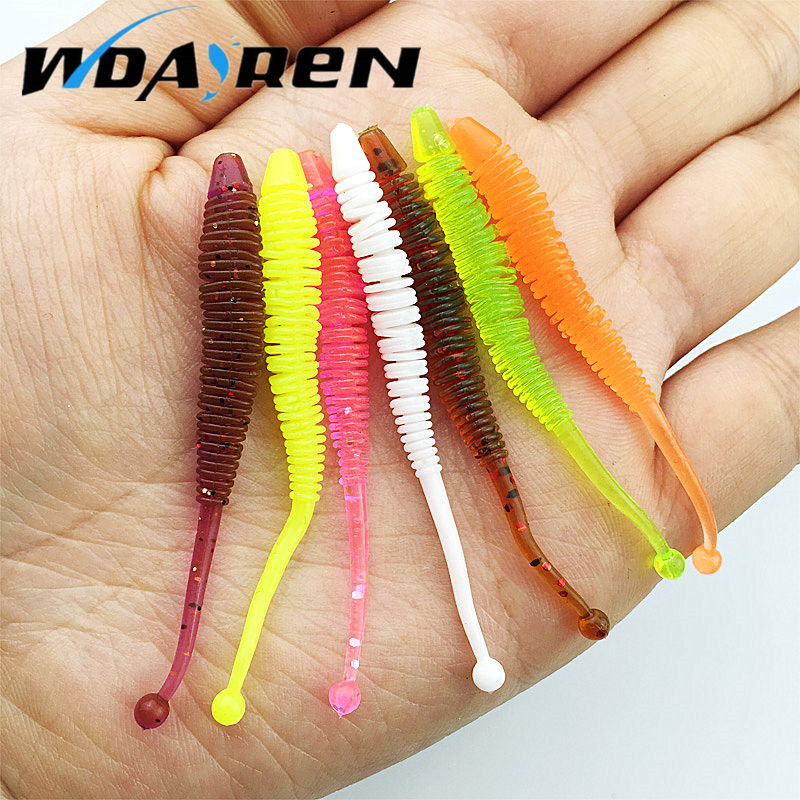 10pcs/lot 0.6g 6cm silicone bait Fishing Worm Soft Lures iscas artificiais para pesca soft baits Fishing Lure fishing gear 7pcs lot fishing lure sea bass soft bait iscas artificiais para pesca jig head twirl tails worm baits jigging soft bait wq191