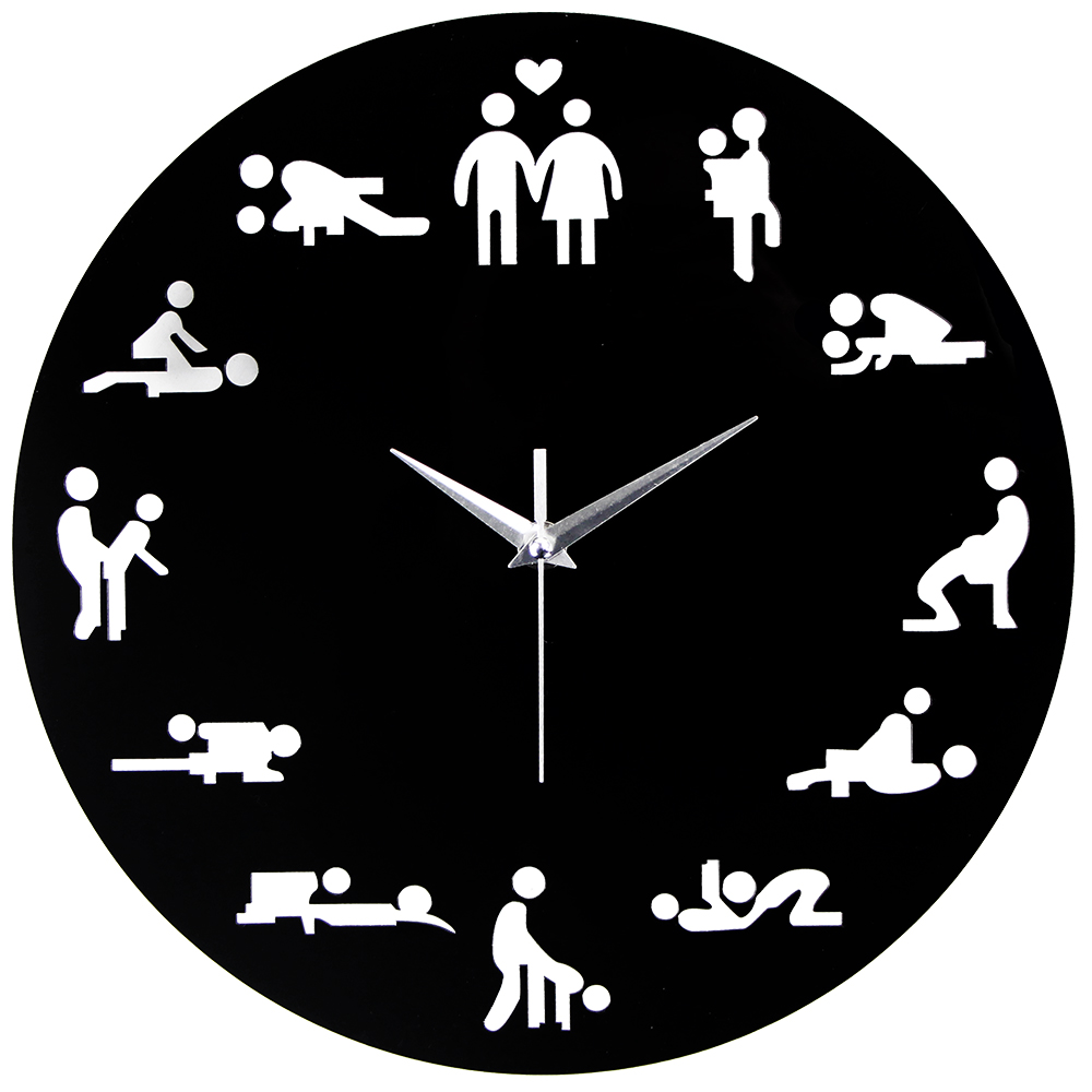 2019 New Arrival <font><b>Sex</b></font> Position Clock Modern Novelty Wall Clock For Wedding Lover Sexual Culture Wall <font><b>Watches</b></font> Relogio Living Room image