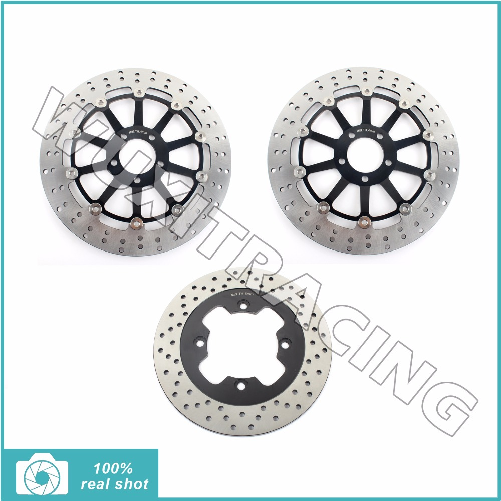 320MM+250MM Round Full Set Front Rear Brake Discs Rotors for KAWASAKI ZZR 1100 ZZR1100 D 1993-2001 1994 1995 1996 1997 98 99 00