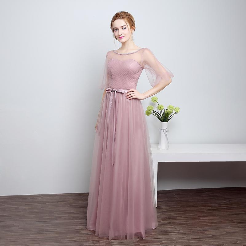 ruthshen Bridesmaid Dresses Long 2018 New Designer Pink / Silver ...