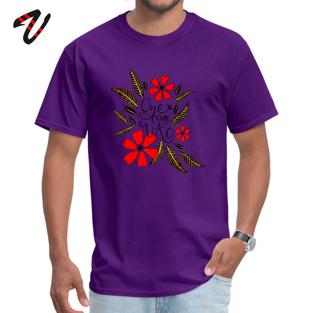 Oye cmo va Crew Neck T-Shirt Mother Day Tops & Tees Short Sleeve Graphic Cotton Normal Tops Shirt Fitness Tight Student Oye cmo va 4256 purple