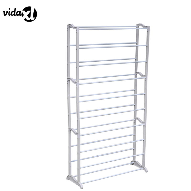 vidaXL 2pcs Home Standing 10 Tier Shoe Rack Set Simple Minimalist Modern Assembly Shoe Cabinet Space Saving Home Decor Portable reinforcing steel double simple shoe storage rack assembly cheap thicker dust specials