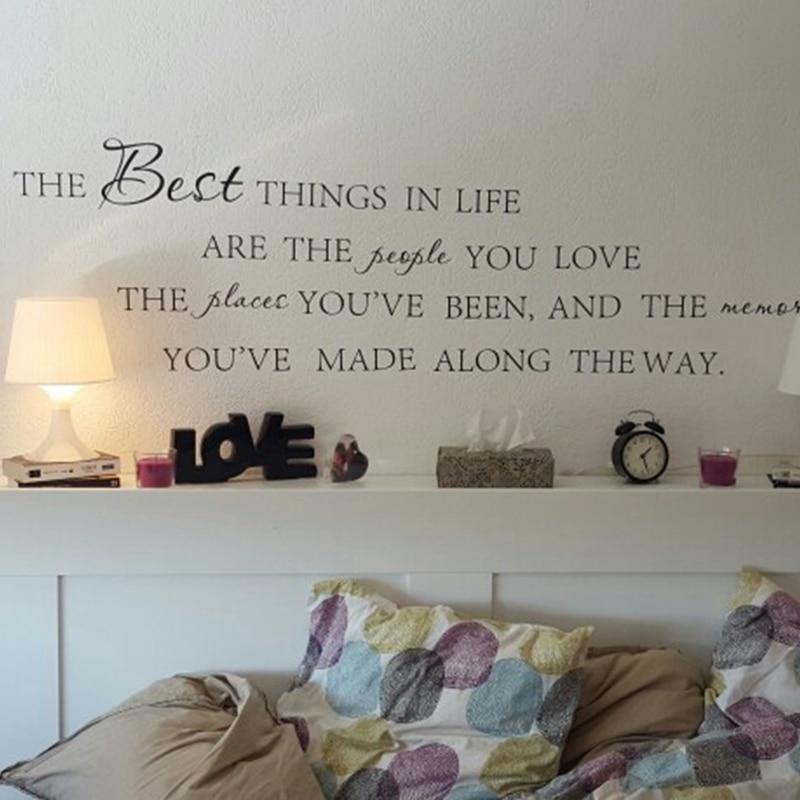 Najboljše stvari v življenju Vinilne stenske nalepke ~ Love - Dekor za dom - Fotografija 3