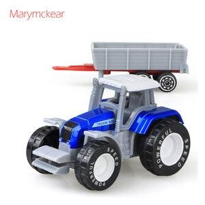 Image 3 - 1個トラクターおもちゃの農民車ミニ車のモデルピックアップおもちゃのための4色トラクターjuguete取り外し可能なダイキャストトラックのおもちゃ