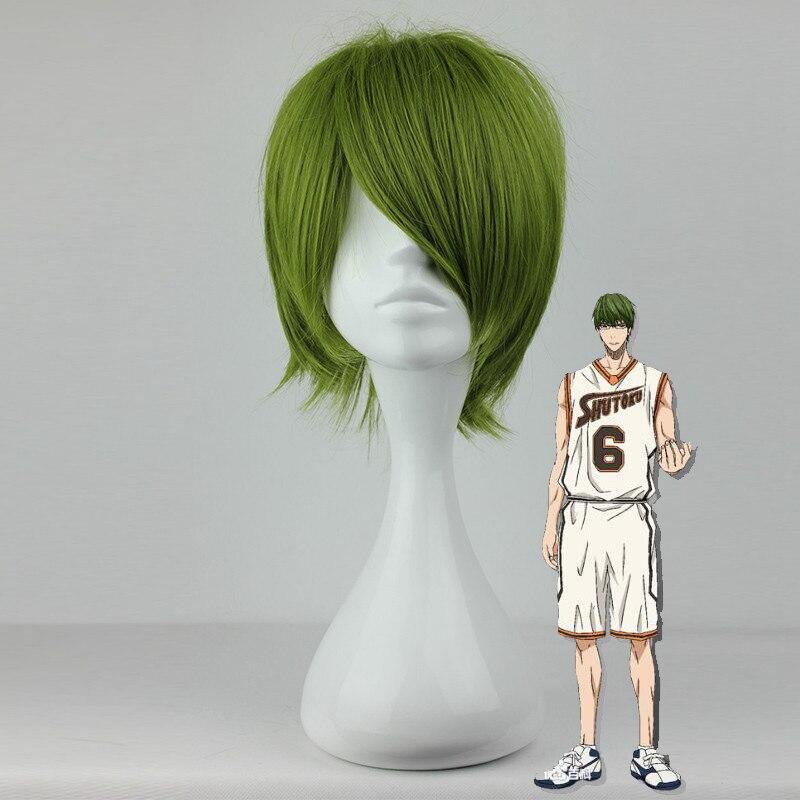 Able Kuroko No Basketball Cosplay Wig Midorima Shintaro Green Hair Comic Role Play Hair