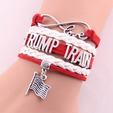 New fashion Infinity Love American presidential election TRUMP TRAIN bracelet bracelet wrap bracelets & bangles