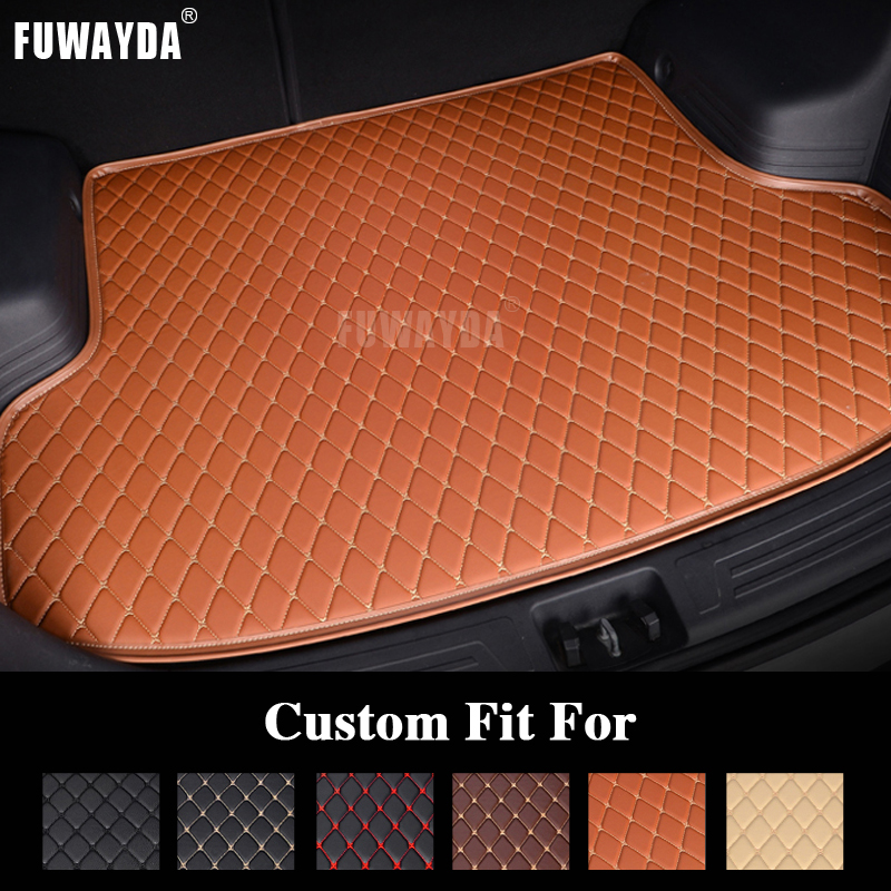 FUWAYDA car ACCESSORIES Custom fit car trunk mat for Ford Mondeo 2007-2012 Years travel non-slip waterproof Good quality car rear trunk security shield cargo cover for ford s max smax 2007 2015 high qualit black beige auto accessories