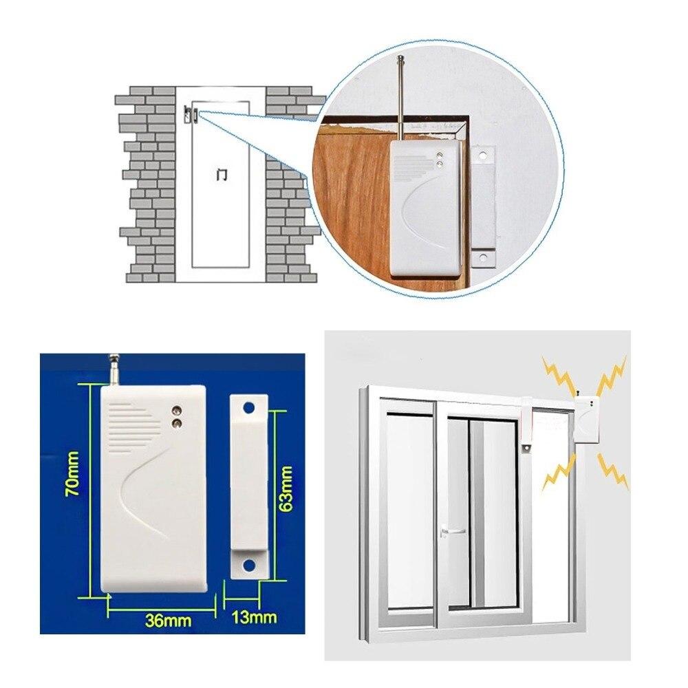 5 Pcs 433mhz Gsm Wireless Door Sensor Wireless Window Entry Door