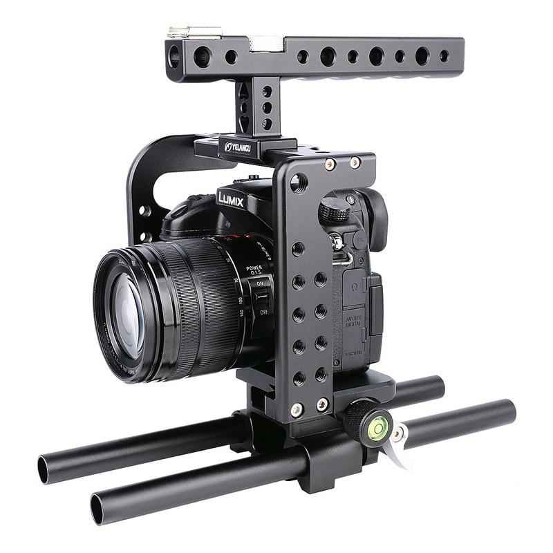цена на GH5 GH4 DSLR Camera Cage Kit for Panasonic Lumix GH5 GH4 Lightweight Rig Cage