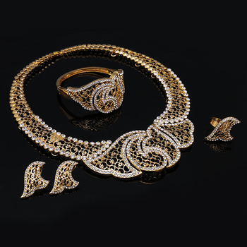 Luxury Dubai Gold-color Jewelry Set