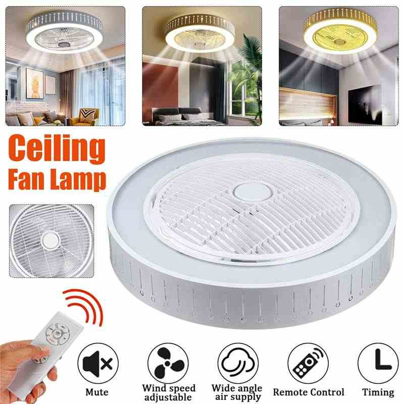 New Trendy LED Ceiling fans lights Timming with 3 colors Lighting& 3 gear wind speed fan light with remote control AC160-260V