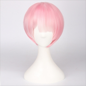 Image 4 - Re:Life In A Different World From Zero Graduated Ram Rem Cosplay Wig for Women Short Straight Pink Blue Anime Wig