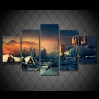 HD Printed Christmas Winter Canvas Painting On The Wall Pictures For Living Room Unframed Oil Cuadros