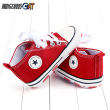 New Canvas Baby Sports Sneakers Shoes Newborn Baby Boys Girls First Walkers Shoes Infant Toddler Soft Sole Anti-slip Baby Shoes стоимость