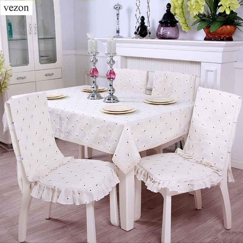 vezon Fashion Linen Europe Embroidery Floral Cotton Lace Tablecloth Delicate Embroidered Flower Table Cloth Towel Cover Overlays pink floral towels