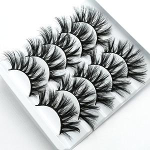 Image 5 - HBZGTLAD 1/5 pairs natural false eyelashes fake lashes long makeup 3d mink lashes eyelash extension mink eyelashes for beauty