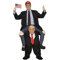 Funny Donald Trump Rider Costume Adult Halloween Carnaval Party Cosplay Disfraz For Woman Man