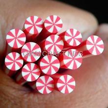 10 шт мята перечная Полимерная глина тростника конфеты фимо тростника Миниатюрные Сладости кукольный домик конфеты каваи ногтей художественное украшение ногтей