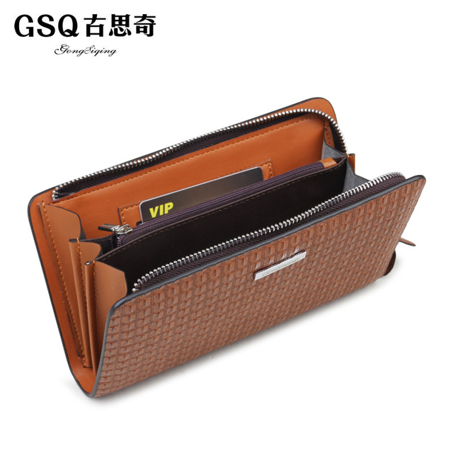 Gsq autumn male clutch cowhide man bag casual cowhide tote bag commercial day clutch