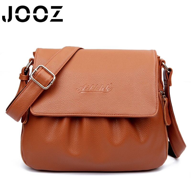 JOOZ Brand Women 100% Genuine Leather Shoulder Women Bag sac a main femme Luxury Crossbody Women Bags Designer Flap Messenger спальня compass элизабет 2 орех темный