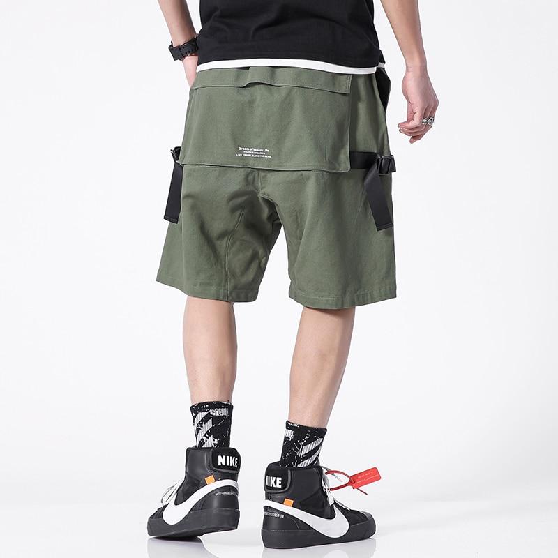 Streetwear Cargo Shorts Men Summer Casual Hip Hop Mens Shorts Cotton 2020 New Bermuda Beach Male Shorts