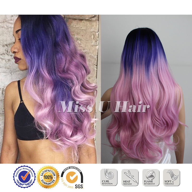 Black Blue Pink Hair Dye Sexy Hair Colors Natural Wavy Haircuts