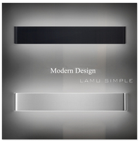 Modern LED Aluminum Lamp Bedside Lamp Black Silver Wall Lamp Bedroom Bathroom Mirror Light Direct Creative