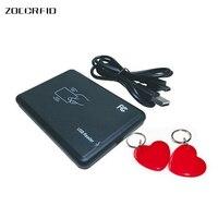 Frete grátis porta USB 13.56 Mhz ISO14443A RFID Sensor de Proximidade Leitor Escritor + SDK + DEMO + 2 pcs 13.56 Mhz cartões|13.56mhz rfid reader writer|rfid reader writer13.56mhz rfid reader -