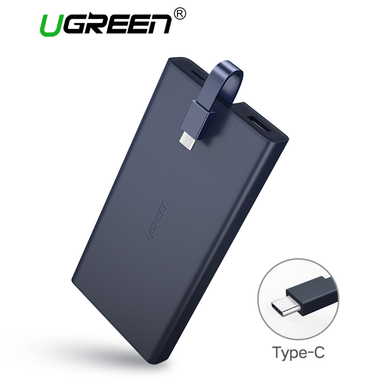 Ugreen 10000 mAh Tipo-C Supporto QC 3.0 2.0 Batteria Esterna Portatile della Banca di Potere PowerBank per Huawei FCP Mobile telefoni Banca di Potere