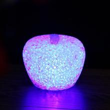 7 Colors Changing Party Christmas Wedding Festivals Decoration Night Lamp EVA Fruit Apple Crystal LED Night Light Lamp